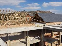 Roof Trusses and Slate Roofing